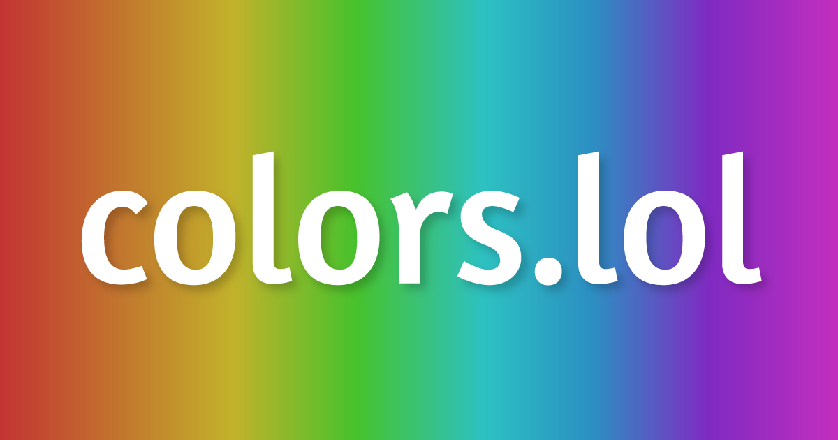 colors.lol - Overly descriptive color palettes